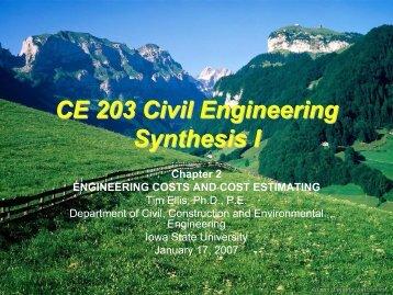CE 203 Civil Engineering Synthesis I - Iowa State University