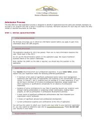 DBA Admission Process - Coles College of Business - Kennesaw ...
