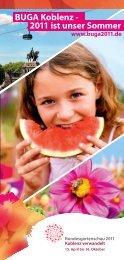 BUGA Koblenz - 2011 ist unser Sommer - Oase