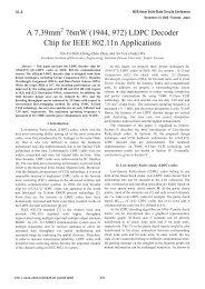 A 7.39mm 76mW (1944, 972) LDPC Decoder Chip ... - Access IC Lab