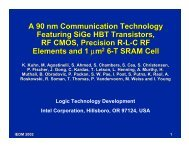 A 90 nm Communication Technology Featuring SiGe HBT ...