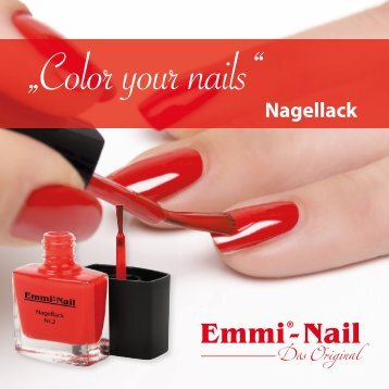 """Nagellack Booklet –""""Color your nails"""""""