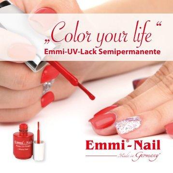 "UV-Lack Semipermanente Booklet italienisch – ""Color your life"""