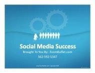 Social Media Success - EcomBuffet.com
