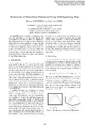 Estimation of Embedding Dimension Using Self-Organizing ... - ieice