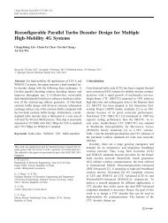 Reconfigurable Parallel Turbo Decoder Design for ... - Access IC Lab