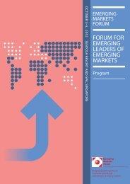 Program - Emerging Markets Forum