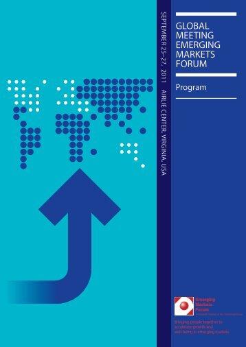 Airlie 2011 Final Program 0913.pdf - Emerging Markets Forum