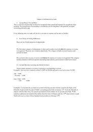 Chapter 4: Deferrals & Accruals 1. Accrual Basis VS Cash Basis The ...