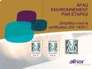 Supports de présentation AFAQ 14001par étapes - AFNOR ...