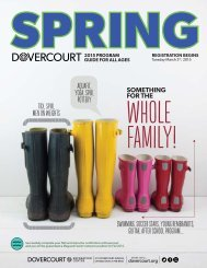 Dovercourt Spring 2015 program guide