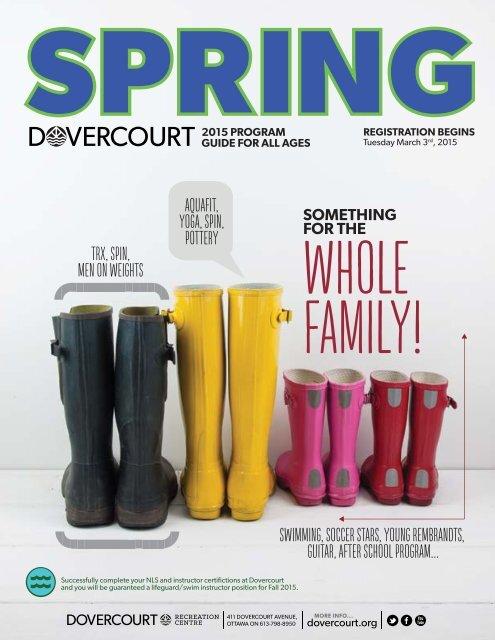 Dovercourt Spring 2015 program guide