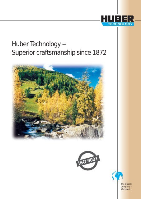 Product Range Overview Brochure - Huber Technology