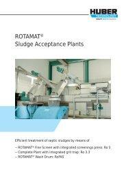 ROTAMAT® Sludge Acceptance Plant FAS - huber se