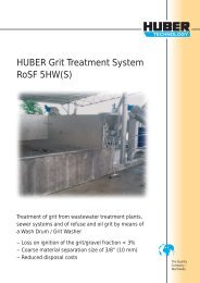 HUBER Grit Treatment System RoSF 5HW(S)
