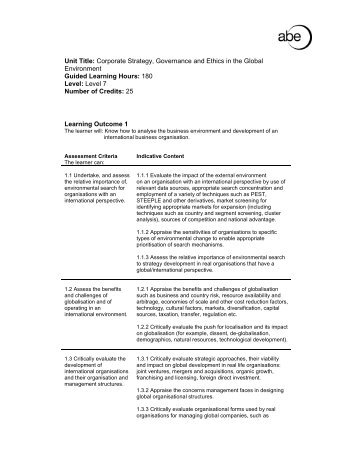 ethics and corporate strategy Part a: understanding business ethics 1: introducing business ethics 2: framing business ethics: corporate responsibility, stakeholders, and citizenship 3.