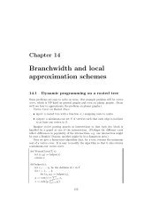 Branchwidth and local approximation schemes - Optimization ...