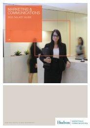 Marketing Salary Survey 2012 - Hudson