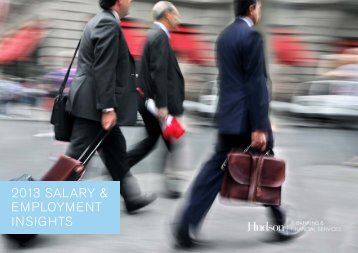 Salary guide 2013 - IT Banking & Finance services - Hudson