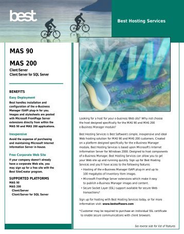 MAS 90 MAS 200 - MAS 90 Accounting Software Consultants