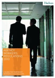 Agency Workers Regulations - A Guide for Candidates - Hudson