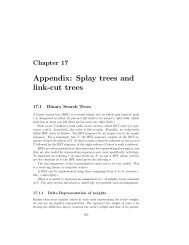 Appendix: Splay trees and link-cut trees