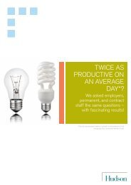 Twice as productive on an average day? - Hudson