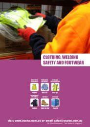 CLOTHING, WELDING SAFETY AND FOOTWEAR