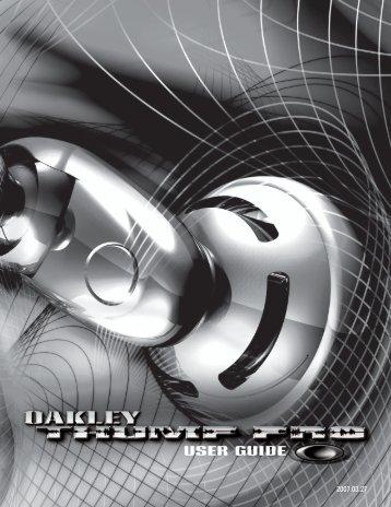 ThumpPro_Manual_JP 3_07 - Oakley
