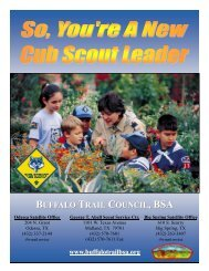 Guide for New Cub Scout Leaders - Buffalo Trail Council