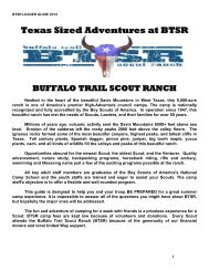 2012 Leader's Guide - Buffalo Trail Council