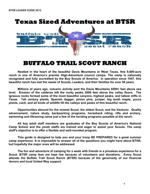 2012 Leader S Guide Buffalo Trail Council