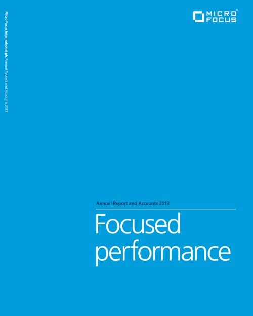 Download PDF - Investor Relations - Micro Focus