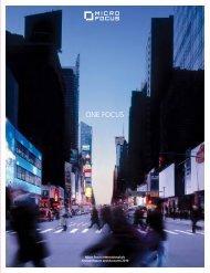 ONE FOCUS - Investor Relations - Micro Focus
