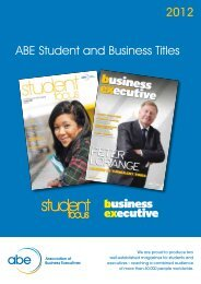 ABE Student and Business Titles 2012 - Association of Business ...
