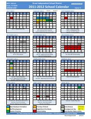 2015-2016 Official Instructional School Calendar