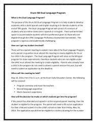 Krum ISD Dual Language Program