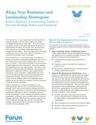 Align Your Business and Leadership Strategies: - Forum Corporation