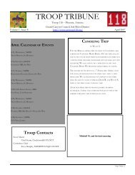 Troop Contacts - AzScout.Org
