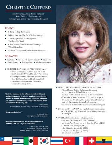 booking information - Christine Clifford