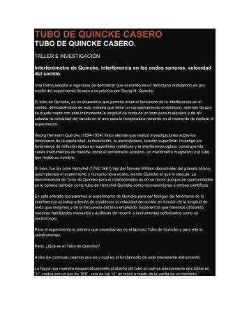 TUBO DE QUINCKE CASERO