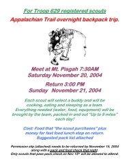 Flyer, Pack List, & Permission Slip - Troop 629