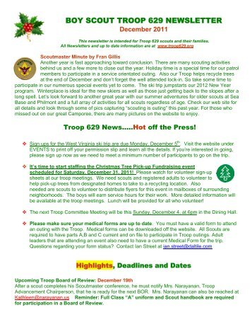 Boy Scout Medical Form | Scout Personal Data Collection Form Troop 13