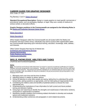 Career guide for graphic designer - Virginia Jobs - Commonwealth ...