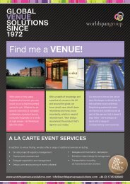 Venue Finding Services Overview - Worldspan Group
