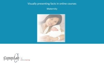 Visually presenting facts in online courses - CommLab India