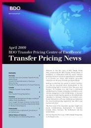 Transfer Pricing - BDO International