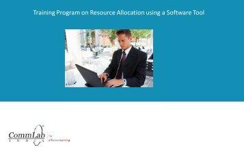 Training Program on Resource Allocation using a ... - CommLab India