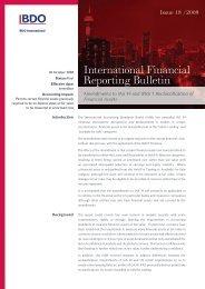 BDO - IFR BULLETIN 18/2008 - BDO International