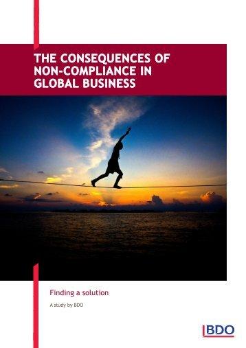 Consequences of non-compliance brochure - BDO International